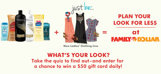 Family Dollar What's Your Look? Quiz ~ Plan Your #FDLookForLess