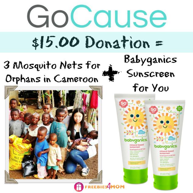 Donate $15, Get Babyganics Sunscreen 2-pack ($22.98 value)