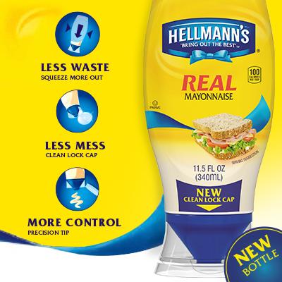 Hellmann's Mayonnaise Squeeze Bottle Design