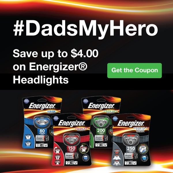 Energizer® Headlights Coupon for Father's Day!