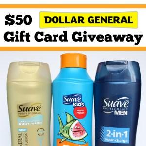 $50 Dollar General Gift Card Giveaway Winner