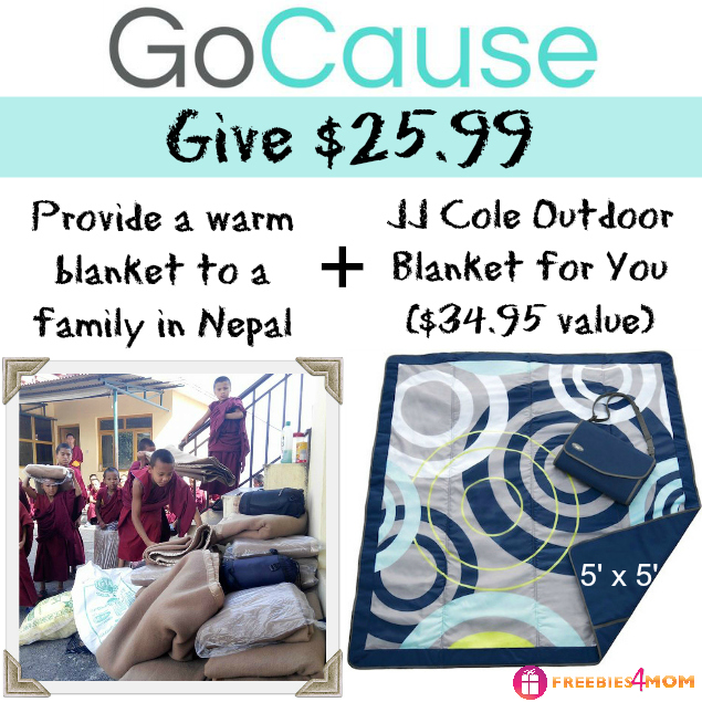 Give $25.99, Get JJ Cole Outdoor Blanket (25% off)