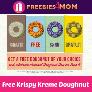Free Doughnut at Krispy Kreme June 5