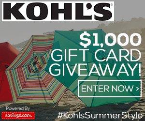 Win a $50 Kohl's Gift Card (20 winners)