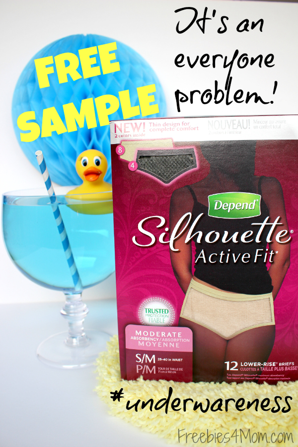 Free Sample of Depend Silhouette Active Fit Incontinence Protection