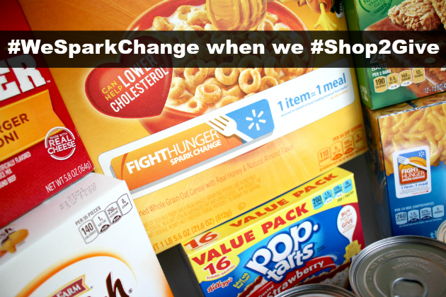 #WeSparkChange when we #Shop2Give at Walmart