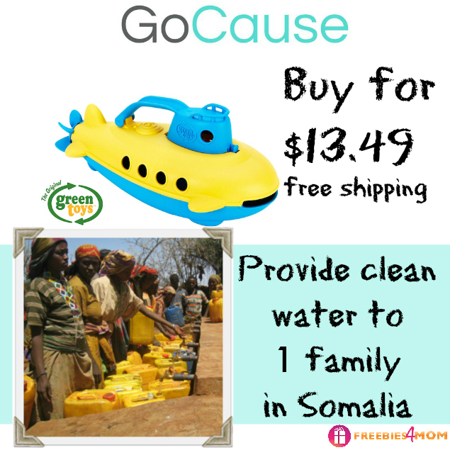 $13.49 Green Toys Submarine + Clean Water for 1 Family