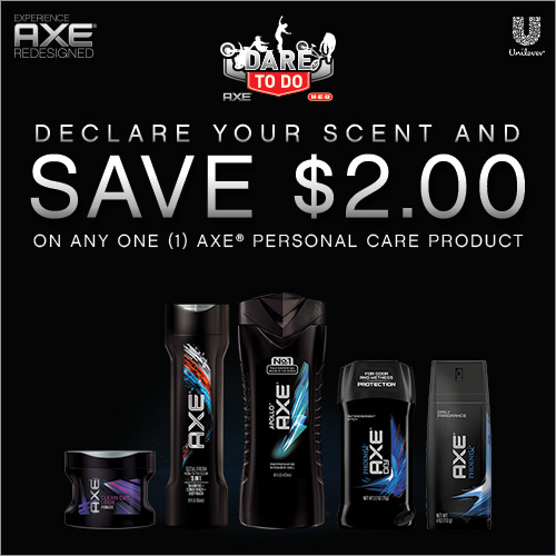 Save $2.00 on AXE Personal Care at H-E-B