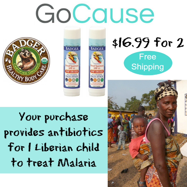 Badger Balm Sunscreen Deal from GoCause