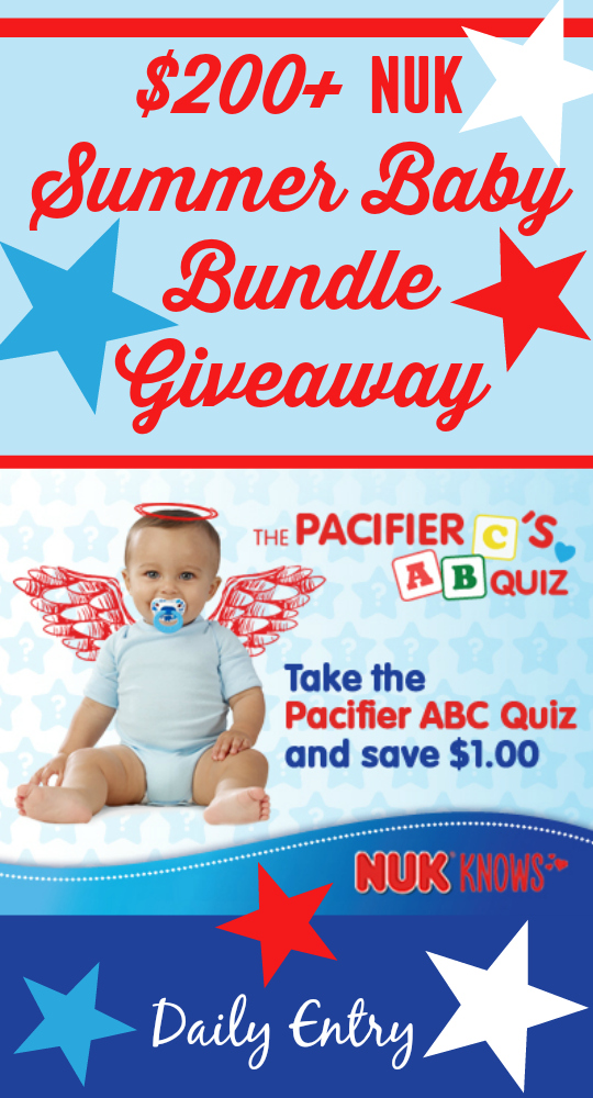 $200+ NUK Summer Baby Bundle Giveaway ~ $1.00 off NUK® Pacifiers