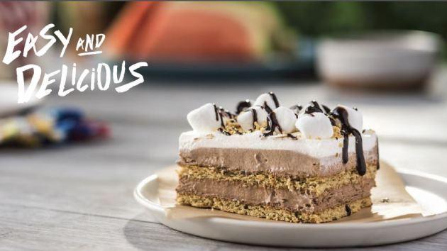 """No-Bake S'more """"Cake"""" Recipe"""