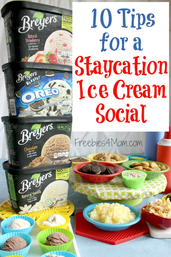 10 Tips for a Staycation Ice Cream Social