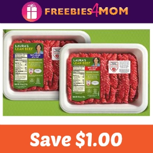 Save $1.00 on Laura's Lean Beef