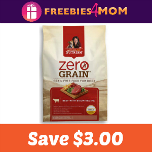 Coupon: $3.00 off Zero Grain Beef w/Bison