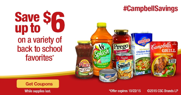 Back To School Printable Campbell's® Coupons