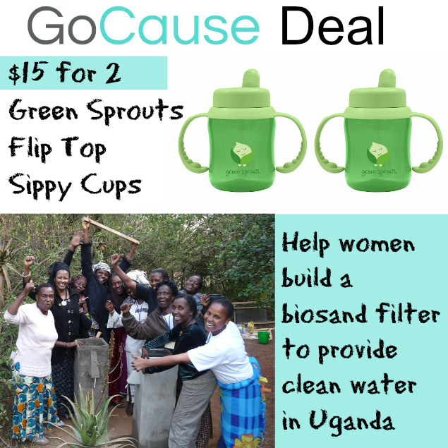 GoCause Deal: $15 for 2 Green Sprouts Flip Top Sippy Cups