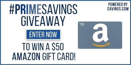 Amazon PrimeSavings Giveaway