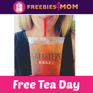 Free Tea Day at McAlister's Deli July 23