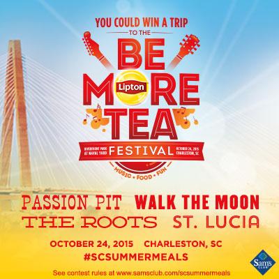 Lipton® Be More Tea Festival - Win a Trip or Sam's Club Gift Card