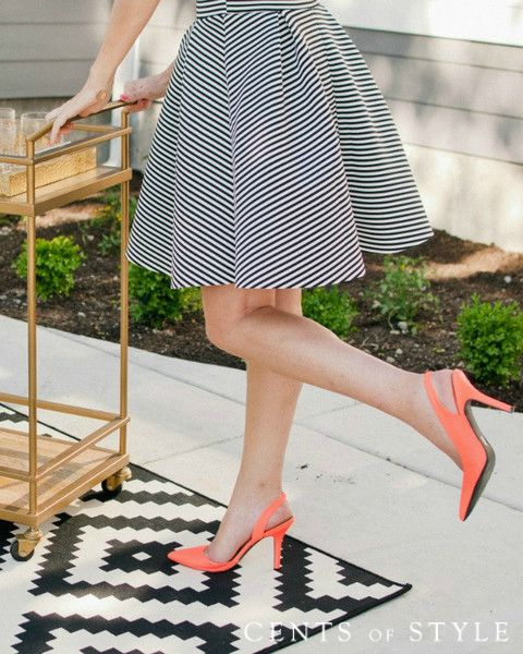 Circle Striped Midi Skirt $29.95 (+ Tee Deal)