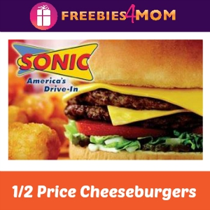 1/2 Price Cheeseburgers at Sonic Thursday