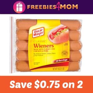 Coupon: Save $0.75 off 2 Oscar Mayer Hot Dogs