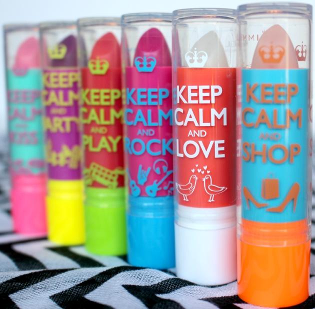 Keep Calm and Lip Balm six tints available at Walmart