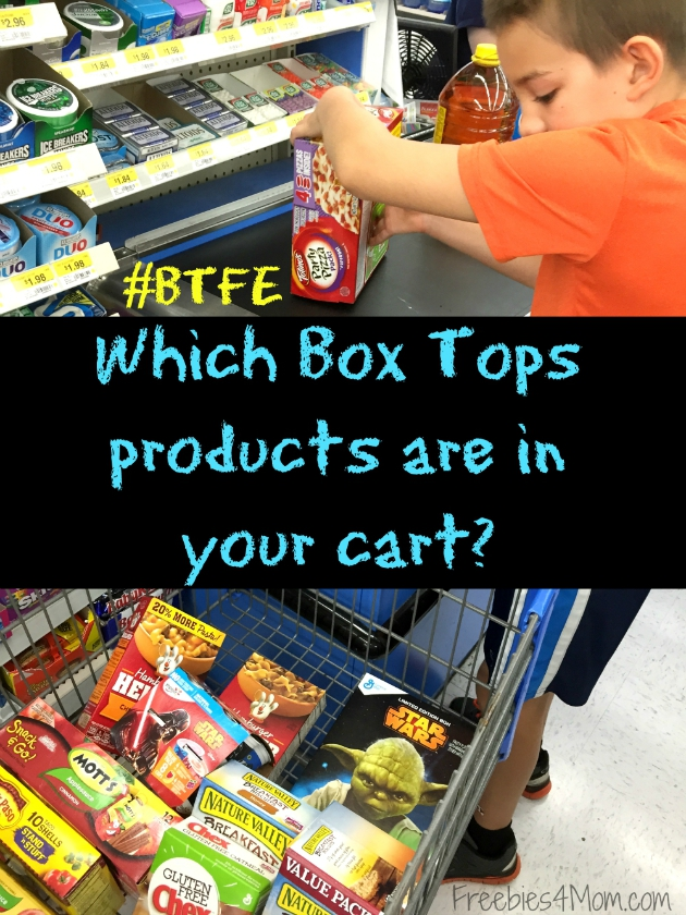 Which Box Tops products are in your cart?