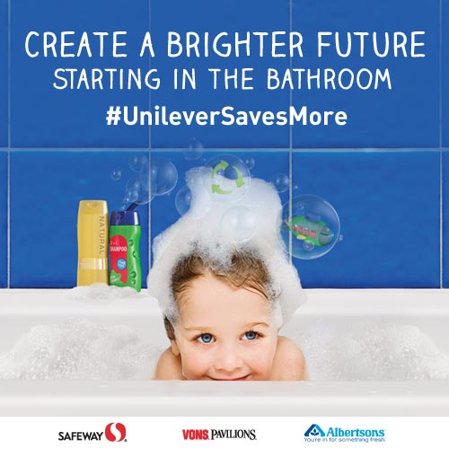 Create a Brighter Future starting in the bathroom #UnileverSavesMore