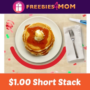 $1.00 Short Stack Pancakes at IHOP Aug. 23