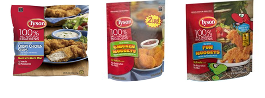 Tyson products at Walmart