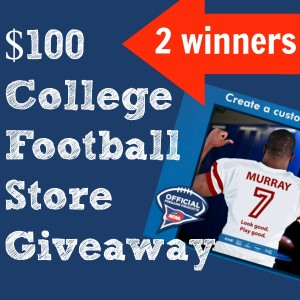$100 College Football Store Giveaway Winners