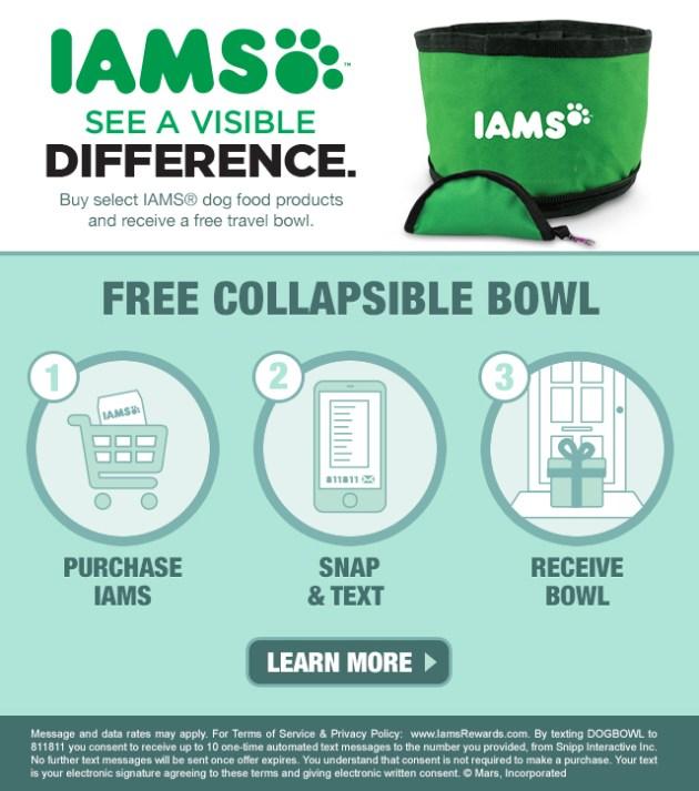 Free Iams Travel Bowl #FurryFoodie #Walmart