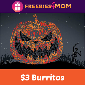 "Chipotle $3 ""Booritos"" on Halloween"