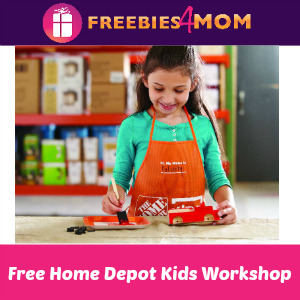 Free Kids Workshop at Home Depot April 6