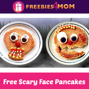 Free Scary Face Pancake for Kids at IHOP Oct. 30