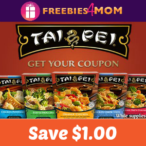 Save $1.00 off any Tai Pei Single Serve Entrée