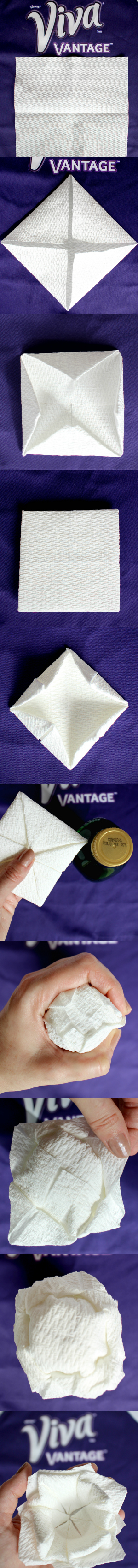 DIY Paper Towel Flowers tutorial using Viva Vantage paper towels