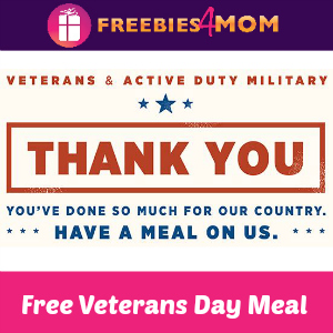 Free Meal for Veterans at Applebee's