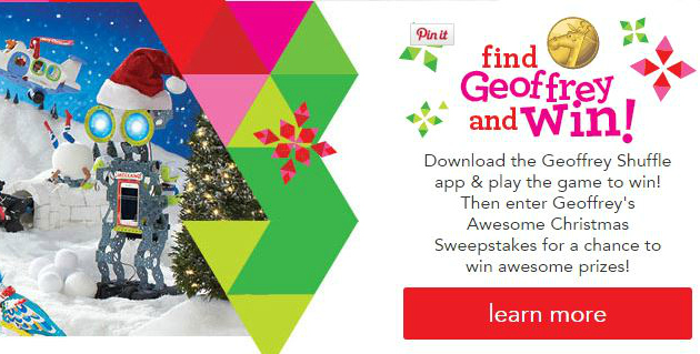 Geoffreys awesome christmas sweepstakes win