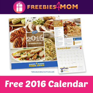 Free 2016 Calendar from Perdue