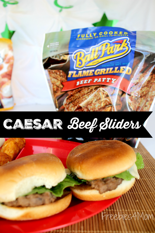 Make Caesar Beef Sliders for your Game Day Party ~ perfect tailgating recipe!