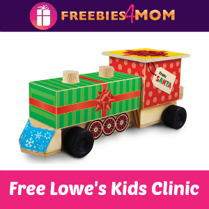 Free Train Engine Lowe's Build & Grow Kids Clinic