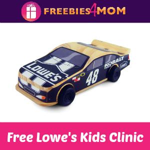 Free Pullback Car Lowe's Build & Grow Kids Clinic