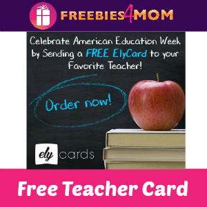 Free Teacher Appreciation Card from Ely Cards