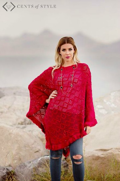 Ponchos $14.95 at Cents of Style