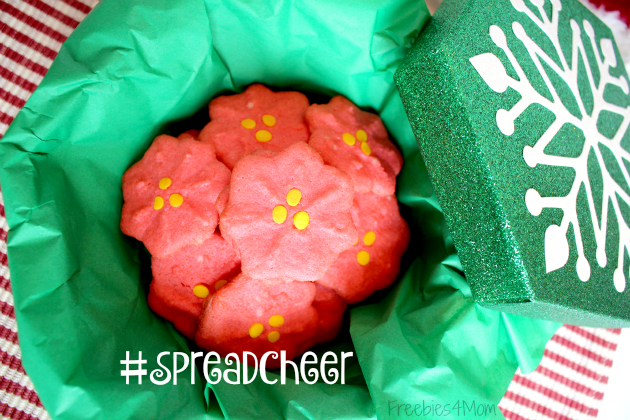 Poinsetta Cookies to #SpreadCheer ready to gift