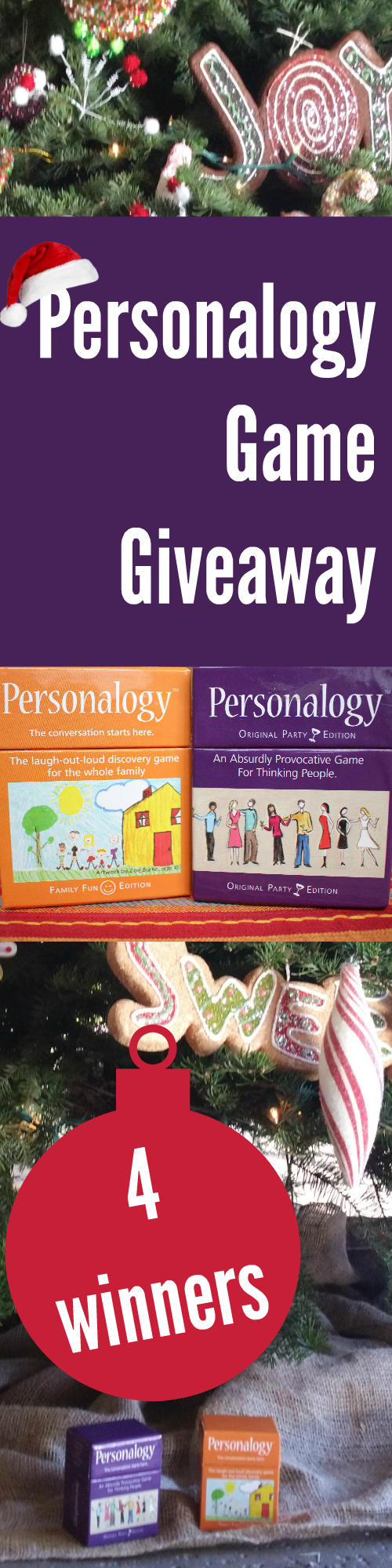 Personalogy Game Giveaway (4 winners)