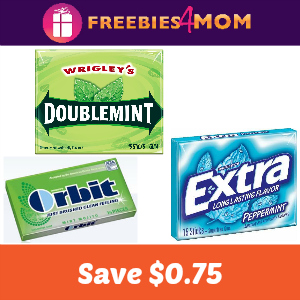 Coupon: $0.75 off Extra, Orbit or Doublemint Gum
