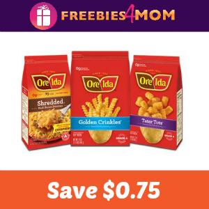 $0.75 off one Ore-Ida Frozen Potato Product